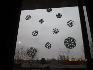 Snowflakes by Kadence, Mom, and Lauren