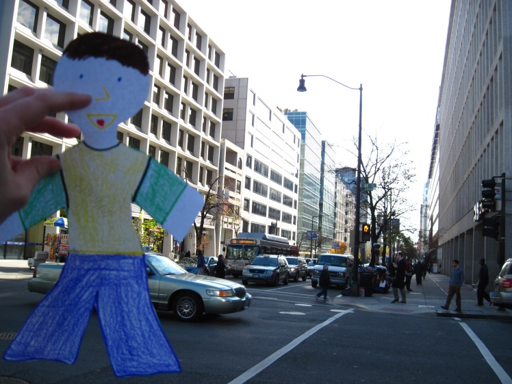Flat Stanley uses Crosswalks