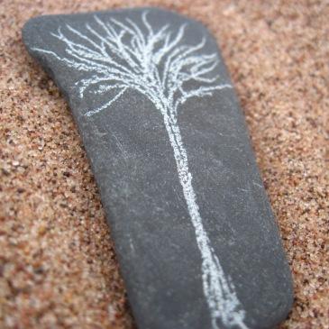 Stone with tree