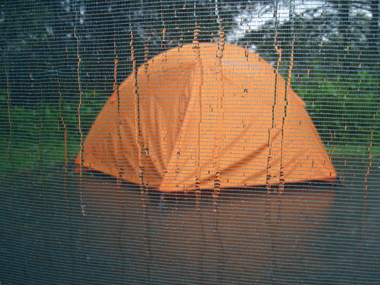Tent with water