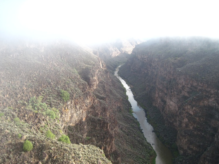 Rio Grande Gorge, New Mexico. The fog was just burning off.