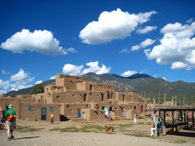 This has been here for over 1000 years--before the Spaniards and before America and before me. Taos Pueblo, New Mexico.