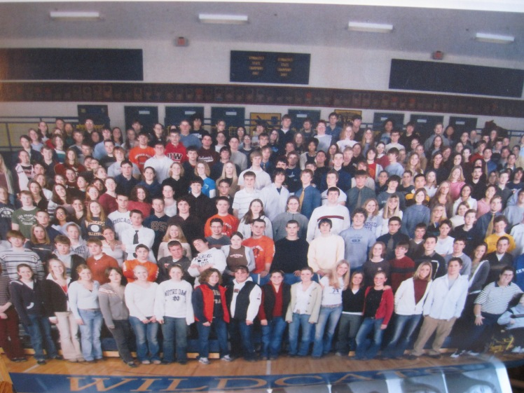For anyone who didn't graduate with us, a little context: our public high school is in western Wisconsin. Our class was quite white, mostly Christian, and more middle class than not.